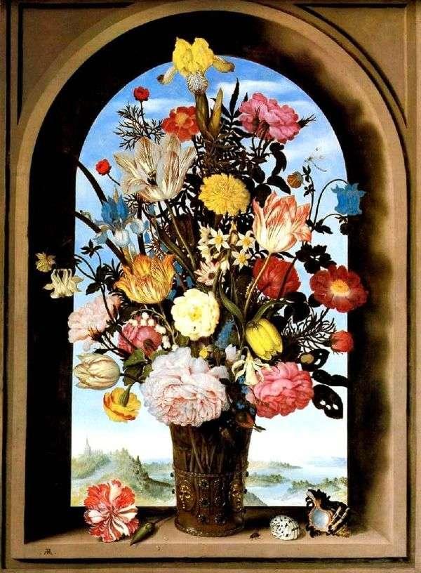 Букет в арочном окне   Амброзиус Босхарт