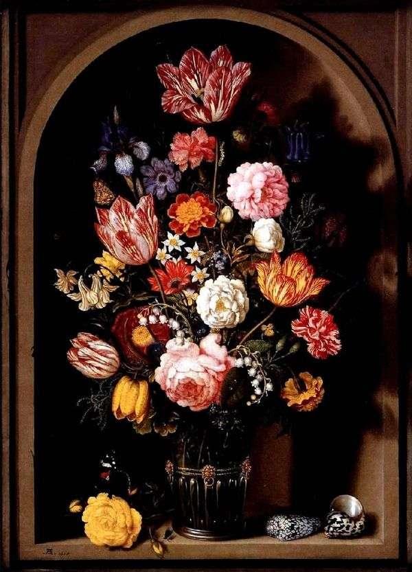 Букет цветов в вазе   Амброзиус Босхарт