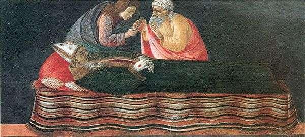 Извлечение сердца Святого Игнатия   Сандро Боттичелли