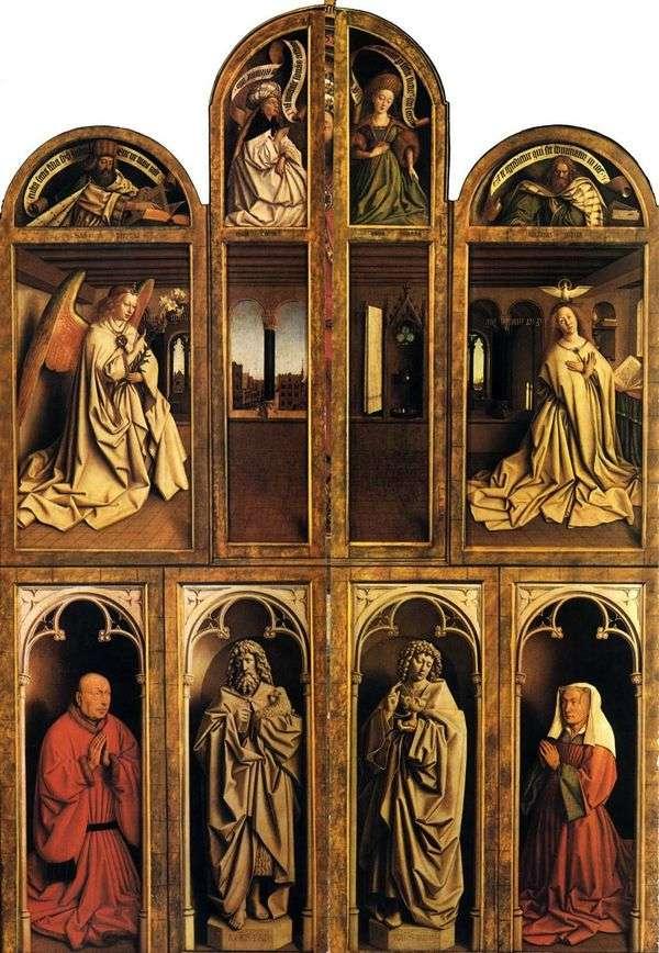 Гентский алтарь в закрытом состоянии   Ян ван Эйк