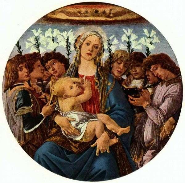 Мадонна с Младенцем и восемью ангелами (Рачинское тондо)   Сандро Боттичелли