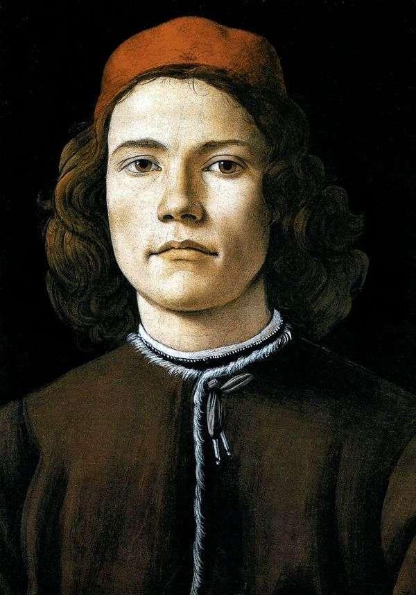 Портрет молодого человека   Сандро Боттичелли