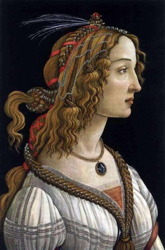 Портрет молодой женщины   Сандро Боттичелли