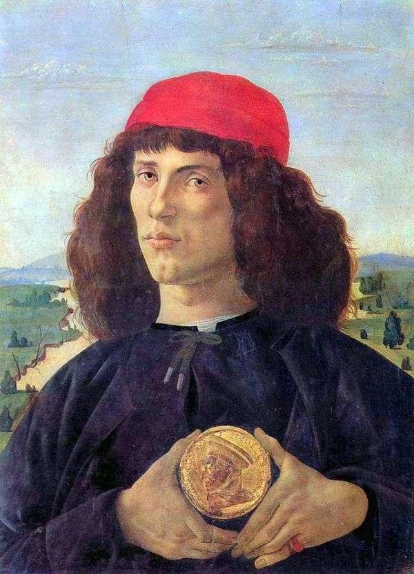 Портрет мужчины с медалью   Сандро Боттичелли