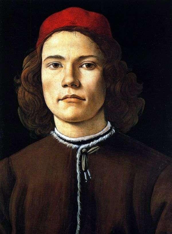 Портрет юноши   Сандро Боттичелли