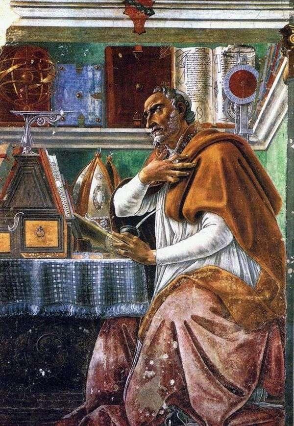 Святой Августин Блаженный   Сандро Боттичелли
