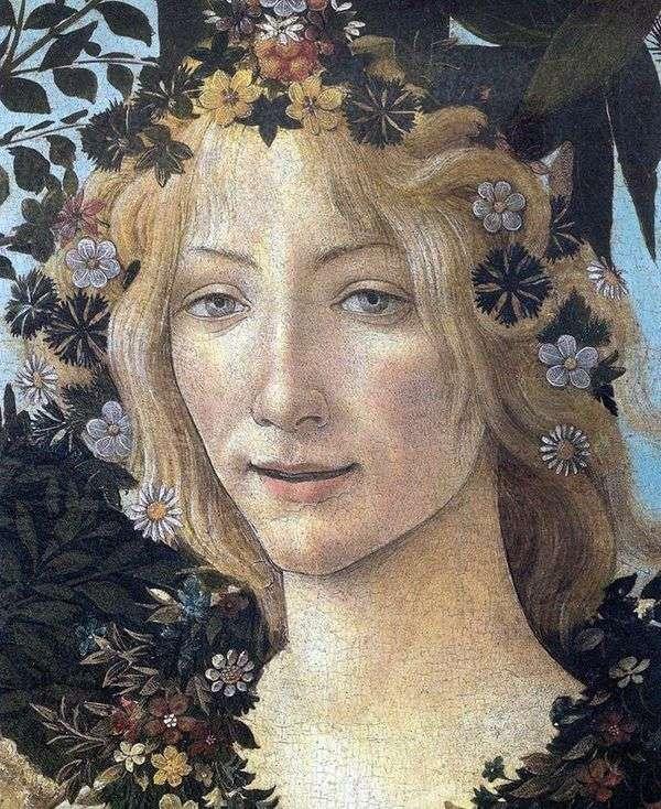 Флора (фрагмент)   Сандро Боттичелли