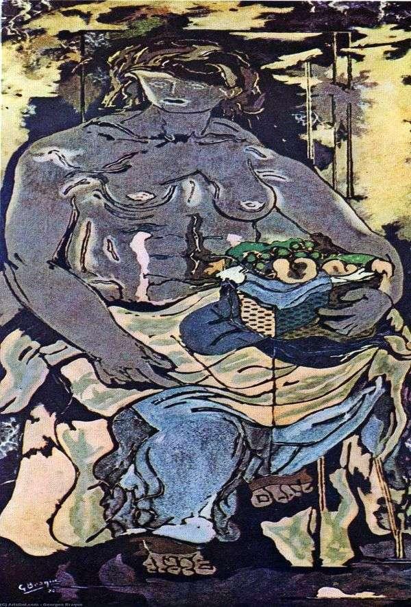 Обнаженная женщина с корзиной фруктов   Жорж Брак