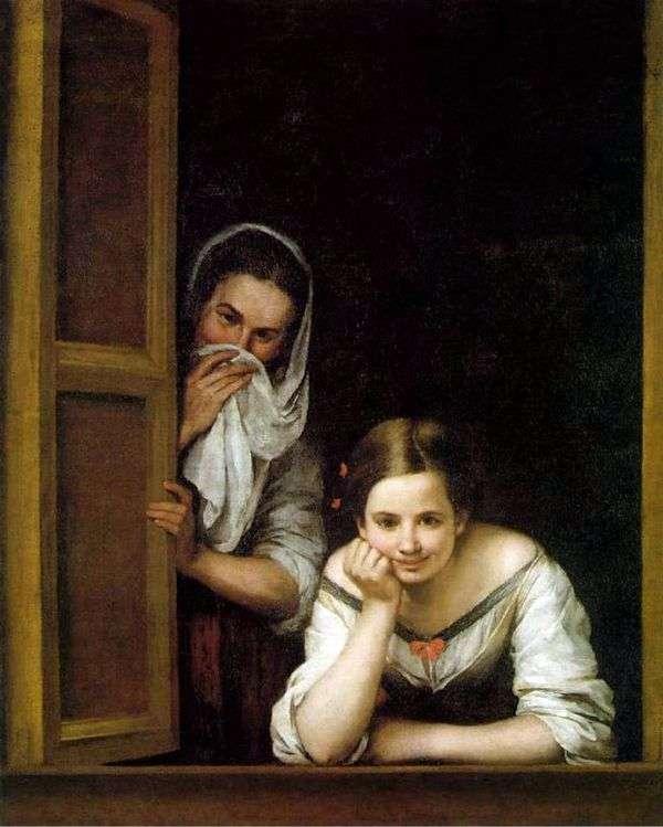 Девушки в окне   Бартоломе Эстебан Мурильо