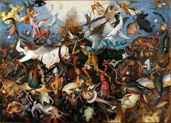 Изгнание падших ангелов   Питер Брейгель