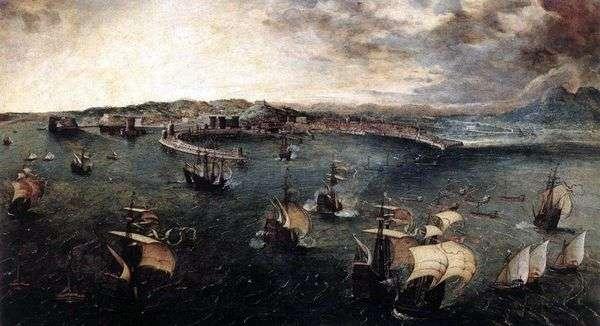 Морской бой в гавани Неаполя   Питер Брейгель