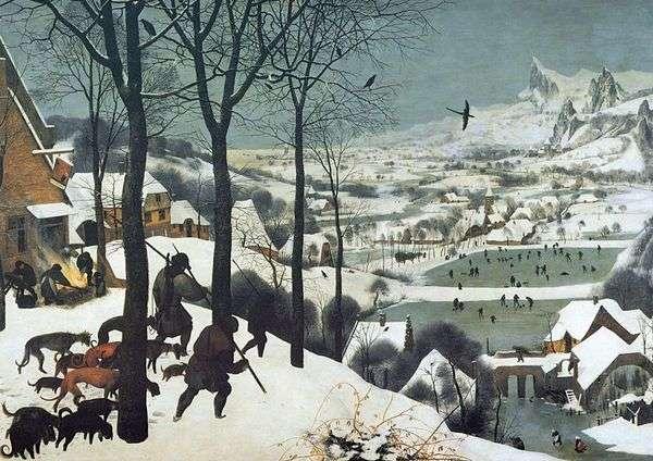 Охотники на снегу   Питер Брейгель
