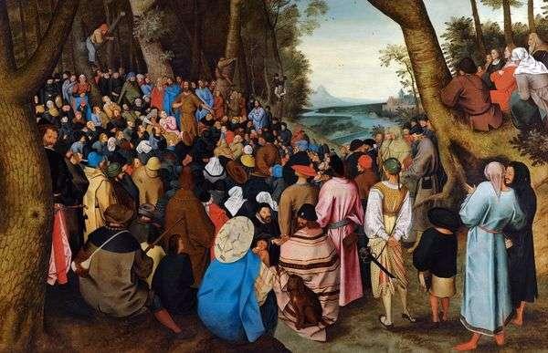 Проповедь Иоанна крестителя   Питер Брейгель