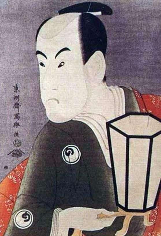 Актер Бандо Хикосабуро III в роли воина Сагисака Санан   Тосюсай Сяраку