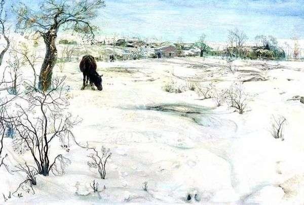 Зима   Исаак Бродский