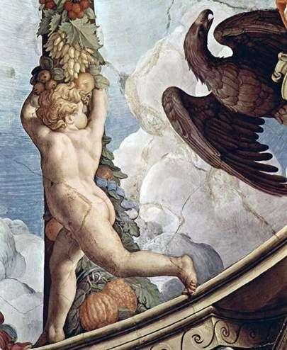 Гирлянда с ангелами (фреска)   Аньоло Бронзино