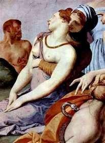 Поклонение кресту с бронзовой змеей (фреска)   Аньоло Бронзино