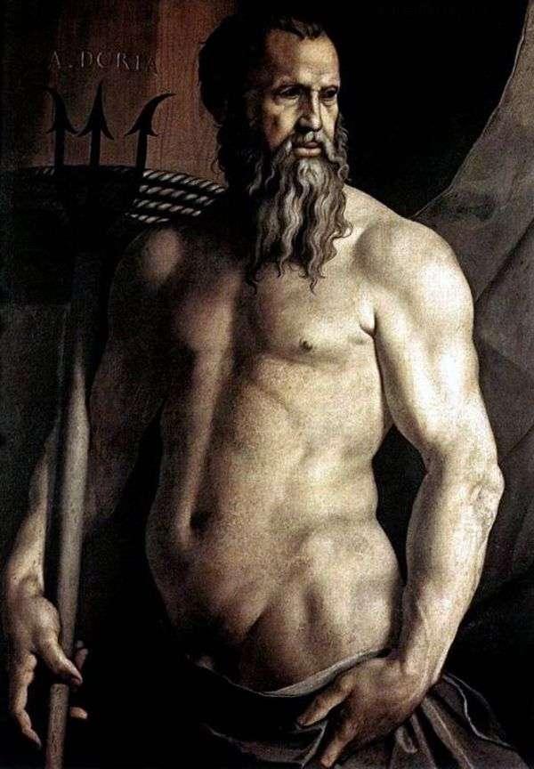Портрет Андреа Дориа в виде Нептуна   Аньоло Бронзино