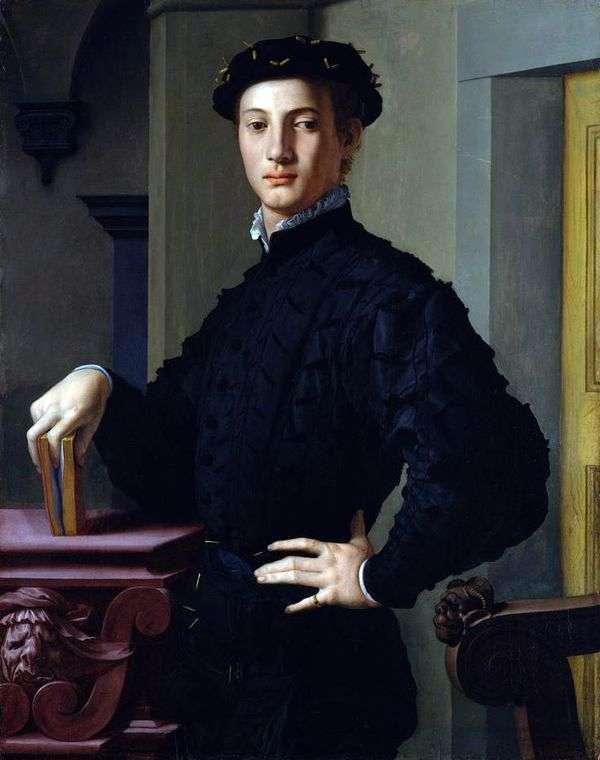 Портрет молодого человека   Аньоло Бронзино