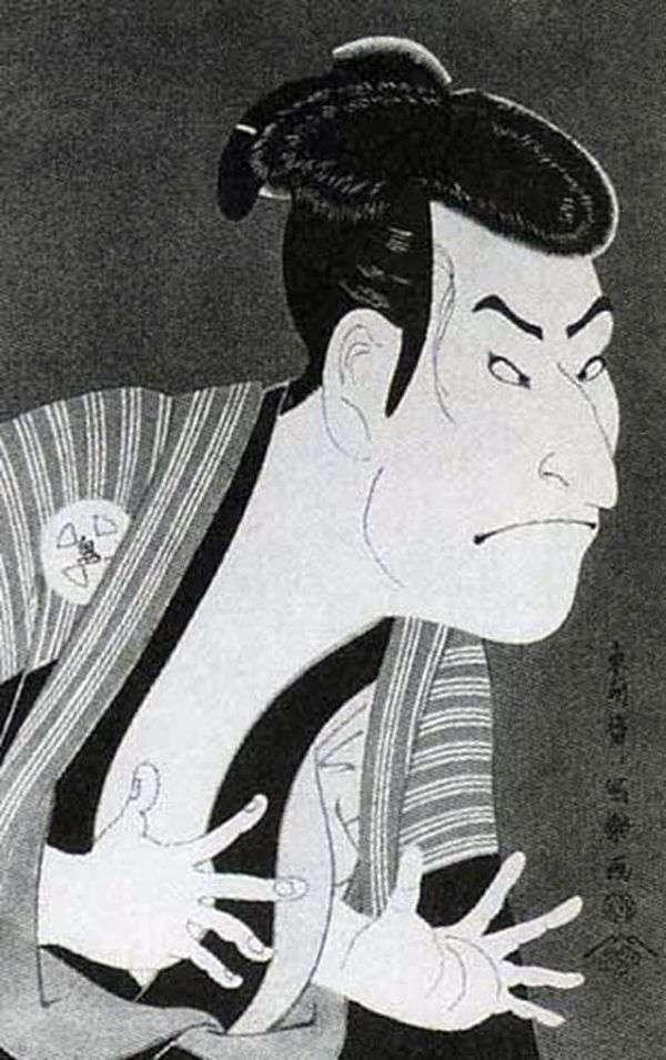 Актер Отани Онидзи II в роли слуги Эдохея   Тосюсай Сяраку