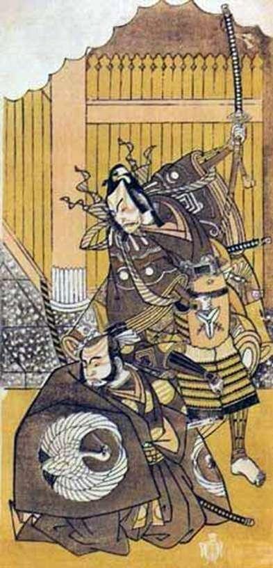 Актеры Итикава Яодзо II и Итикава Дандзюро V   Кацукава Сюнсе