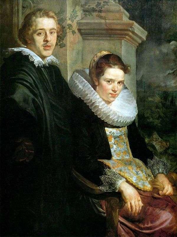 Портрет молодых супругов   Якоб Йорданс