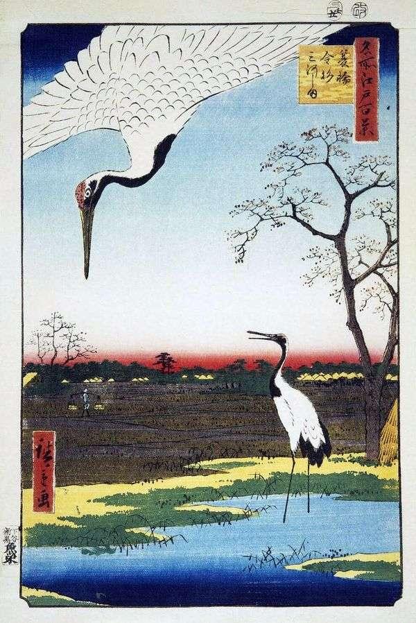 Селения Минова, Канасуги и Микавасима   Хиросигэ Андо