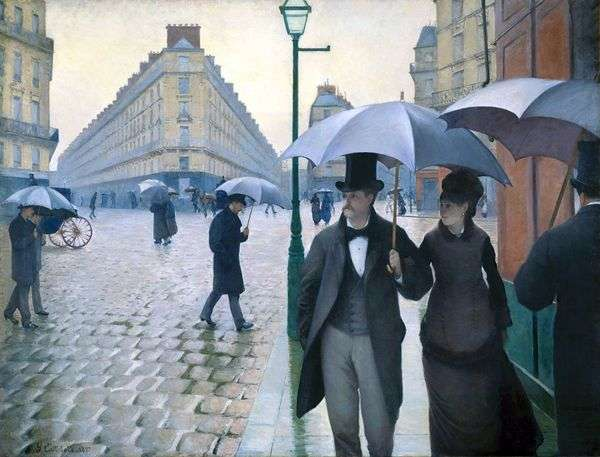 Парижская улица в дождливую погоду   Гюстав Кайботт