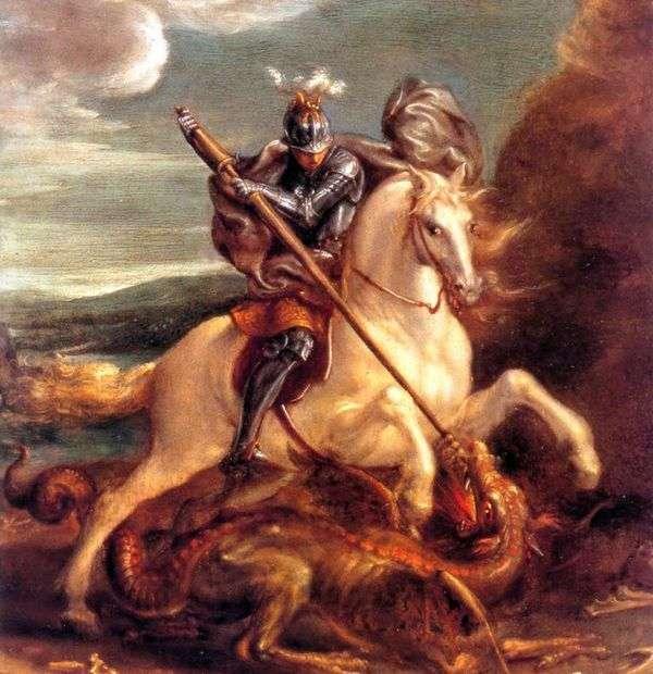 Святой Георгий поражает дракона   Ханс фон Аахен