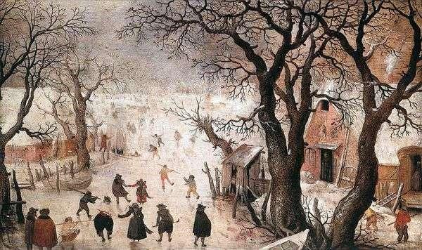 Зима в городе   Хендрик Аверкамп