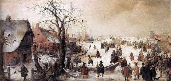 Зимой на канале   Хендрик Аверкамп