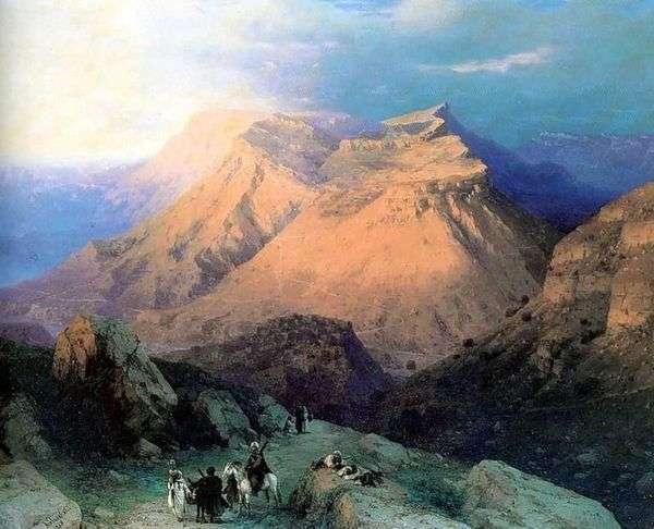 Аул Гуниб в Дагестане. Вид с восточной стороны   Иван Айвазовский