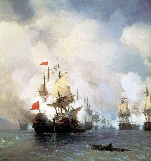 Бой в Хиосском проливе 24 июня 1770 года   Иван Айвазовский
