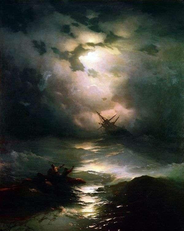Буря на северном море   Иван Айвазовский