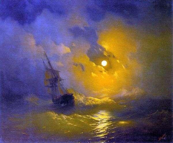 Буря на море ночью   Иван Айвазовский