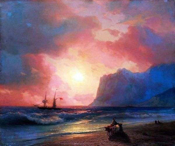 Заход солнца на море   Иван Айвазовский
