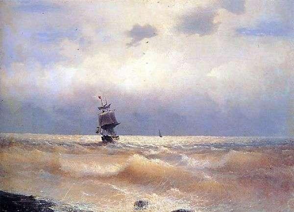 Корабль у берега   Иван Айвазовский