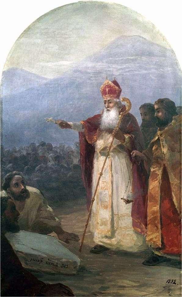 Крещение армянского народа. Григорий Просветитель   Иван Айвазовский