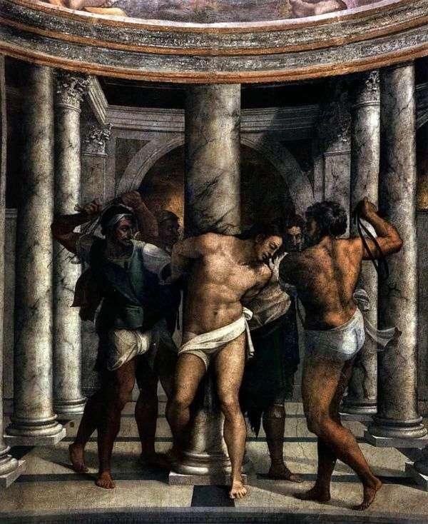 Пьомбо. Бичевание Христа   Микеланджело Меризи да Караваджо