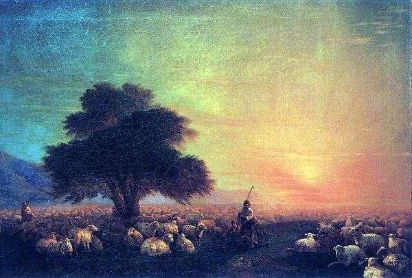 Отара овец   Иван Айвазовский