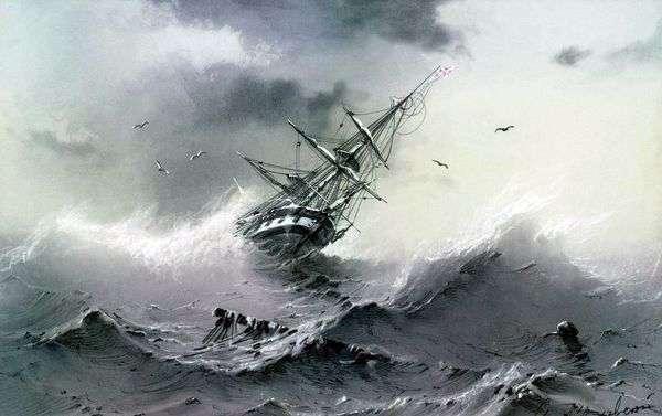 Тонущий корабль   Иван Айвазовский