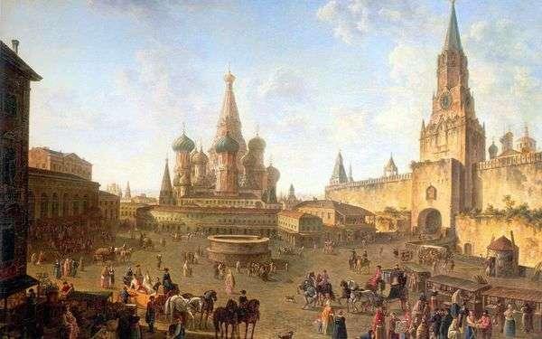 Красная площадь в Москве   Федор Алексеев
