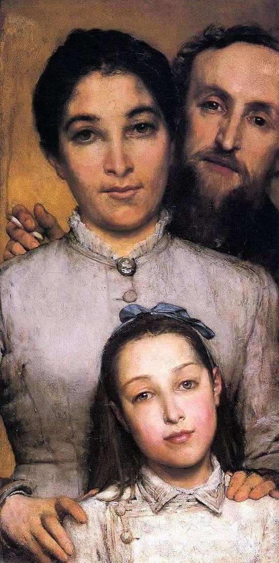 Эме Жюль Далю, его жена и дочь   Лоуренс Альма Тадема