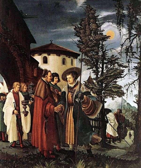 Прощание святого Флориана с монастырем   Альбрехт Альтдорфер