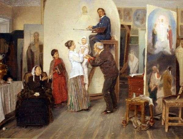 В мастерской художника   Владимир Маковский