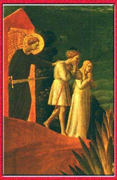 Изгнание. Фреска. Церковь Иоанна Предтечи в Рощенье   Фра Беато Анджелико