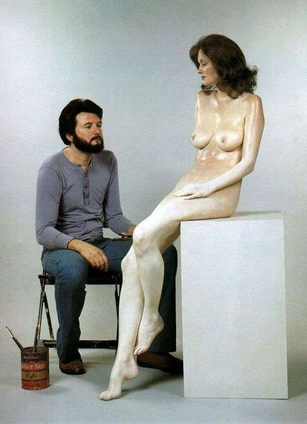 Автопортрет со скульптурой. Скультура   Джон де Андреа