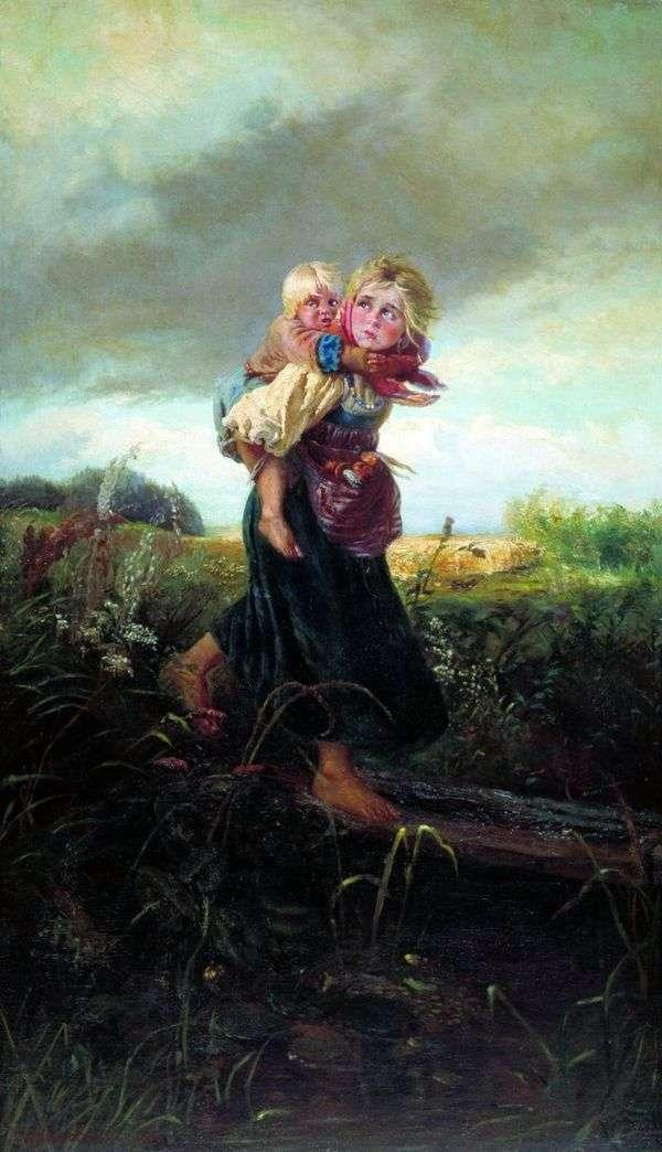 Дети, бегущие от грозы   Константин Маковский