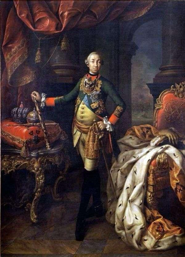 Портрет императора Петра III   Алексей Антропов
