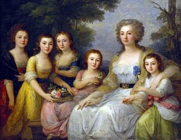 Графиня Анна Протасова с племянницами   Ангелика Кауфман